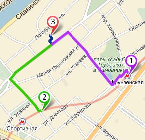 Схема проезда, Центр Крови Первый МГМУ им. И.М. Сеченова